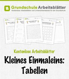 Kostenlose Arbeitsblätter und Unterrichtsmaterial zum Thema Kleines Einmaleins: Tabellen im Mathe-Unterricht in der Grundschule.