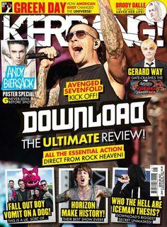 La próxima Kerrang! (UK) incluye un especial sobre el Download Festival (avenged sevenfold, a7x)
