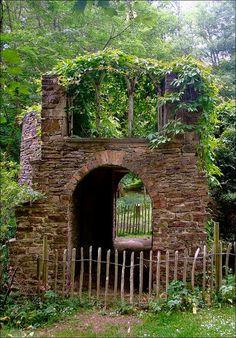 The Sham Castle at Newark Park, Gloucestershire, England