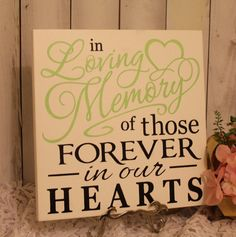 In Loving Memory/of those Forever in our by gingerbreadromantic, $27.95