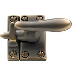 Rejuvenation Easy Update: Casement Fastener with Surface Strike, Solid Brass, 6 Finishes