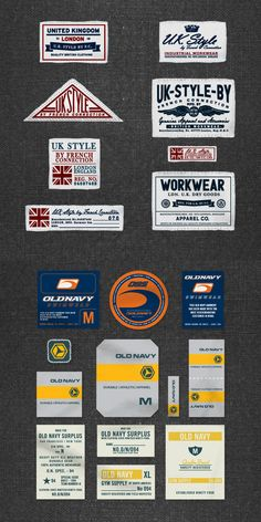 This section showcases examples of trim, label and hangtag systems that I have developed for various apparel brands.