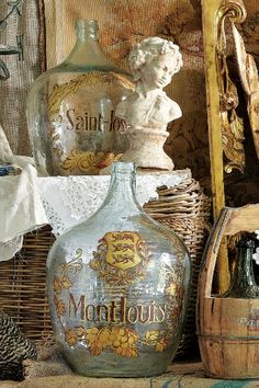 Vintage Wine Bottles - French Wine Bottles, Wine Bottle Art, Wine Bottle Collection | Soft Surroundings