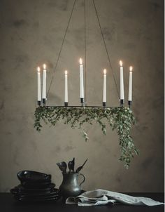 IKEA - VÄRMER, Chandelier for 6 candles, black, The style is both simple and discreet, and it suits most settings. 6 candles are needed for the chandelier – may be completed with JUBLA candles or LJUSANDE LED candles. Ikea Christmas, Scandinavian Christmas, Winter Christmas, Christmas Holidays, Christmas Decorations, Holiday Decor, Chandelier Bougie, Candle Chandelier, 6 Candles