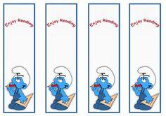 Smurfs Bookmarks – Birthday Printable