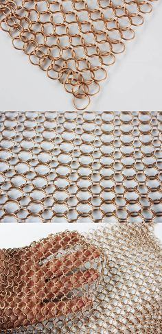 proMesh_alphamesh 12.0 Bronze matt_ Material description : The single ring has an outside diameter of 12mm. Each individual ring is welded and guarantees the high strength and stability of the metal mesh. Its extremely high resistance and durability permits any exterior or interior application.