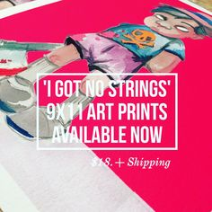 'I Got No Strings'  9x11 Art Prints  Available now Limited Edition Click here right now ... Seriously like right now... Do it!   http://acompanyofn3rds.com/n3rds/prints/  #evilpinocchio #pinocchio  #artprintsforsale #artsale  #dopeart #acompanyofn3rds #glitch