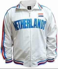 Netherlands International World Cup Track Jackets -- Netherlands Soccer Jacket (White) #worldcup #fifa #soccer #futbol