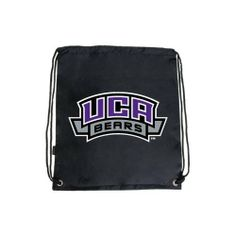 Central Arkansas Nylon Black Drawstring Backpack, UCA Bears by CollegeFanGear. $9.98. A staple for everyday use as a cinch pack or backpack. Value backpack with cinch closure. Easy access storage compartment. Non PVC. 13.75 in.L 16 in.H.