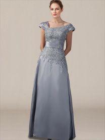 Plus Size Mother of The Bride Dress_Platinum