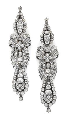 A Pair of Georgian Silver and Paste Ear Pendants, c. 1820. Available at FD.  www.fd-inspired.com