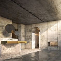 """NERI&HU FOR DORNBRACHT. A house that gives """"ceremonial status"""" to everyday living. The bathroom incorporates a washbasin that would serve as a central meeting place."""