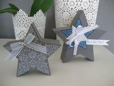 2 stampin up DEKO BOX Christmas x-mas Framelits : Stars and Stamp: bright and beautiful Weihnachten Deko Box Stern Stempelset Zauber der Weihnacht und Framelits Star Kollektion
