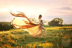Marissa Gown / Chiffon Maternity Gown / Maternity Dress/ Maxi Dress/ Senior photo shoot / Modeling on Etsy, $110.00