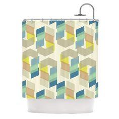 Kobob Chevron by Gukuuki Geometric Shower Curtain