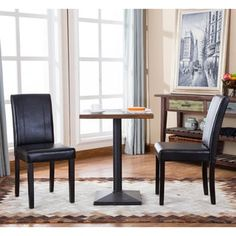 Shop for Urban-Style Solid Wood Leatherette Small Padded Parson Chairs (Set of 2). Get free shipping at Overstock.com - Your Online Furniture Outlet Store! Get 5% in rewards with Club O! - 17915697