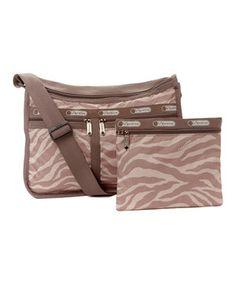 717f017da3 LeSportsac Tan Zebra Deluxe Everyday Bag