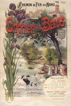 Chemin de Fer du Nord - Enghien-les-Bains - 1890 - France -