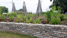 Aesthetic Look, Dry Stone, Landscape Services, Retaining Walls, Concrete Blocks, Beautiful Wall, Natural Stones, Nature, Cinder Blocks