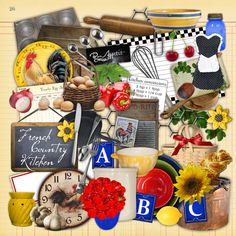 French Country Kitchen Digital Scrapbook Kit