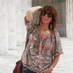 Feeling hippie today with my new Camomilla Italia Pagina Ufficiale blouse! Una giornata hippie grazie alla blusa di Camomilla! #welovecamomillaitalia