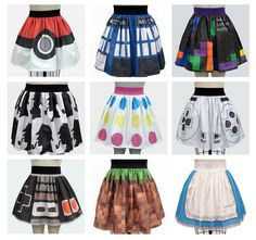 Gamer/Nerd Skirts!    Source: http://gamerfashion101.tumblr.com/post/32013288745/super-cute-geek-chic-skirts-at-ashley