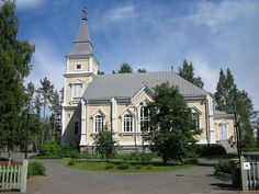 Church in Toivakka in middle Finland. There are some modern and special paintings. I have spent all my childhood school visit in this church.