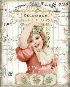 December Calendar, Calendar Girls, Christmas Signs, Christmas Crafts, Vintage Pink Christmas, Police, Photo Craft, Altered Books, Small Gifts