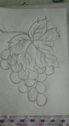 Art Drawings Sketches Simple, Art Drawings For Kids, Pencil Art Drawings, Bird Drawings, Easy Drawings, Flower Art Drawing, Flower Line Drawings, Border Embroidery Designs, Embroidery Flowers Pattern