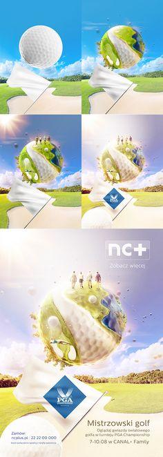 nc+ golf and soccer key visuals