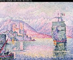 Paul Signac Antibes, Evening oil painting picture
