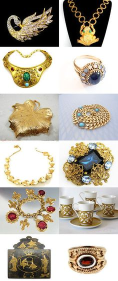 #vintage Bold and #Gold #VogueTeam #etsybot2 by Cleaver White on Etsy--Pinned+with+TreasuryPin.com