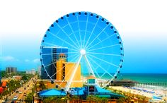 Skywheel.........10 story high ferris wheel in Myrtle Beach!!! Gonna ride this with hubs on vacation!!!