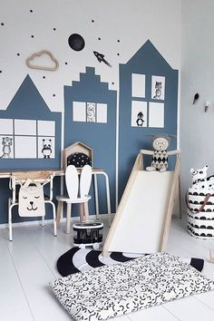 We all know how difficult it is to decorate a kids bedroom. A special place for any type of kid, this Shop The Look will get you all the kid's bedroom decor ide Kids Bedroom, Bedroom Decor, Bedroom Ideas, Nursery Ideas, Bedroom Furniture, Blue Furniture, Bedroom Modern, Playroom Ideas, Bedroom Lighting