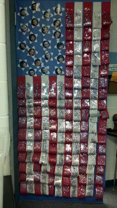 #military #veterans Veterans Day decorated door - @ www.HireAVeteran.com