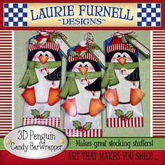3D Christmas Penguin Candy Bar Wrapper