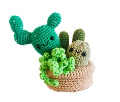 Succulent Pot - Amigurumi - Crochet - Handmade - Ethical - Stuffed Toys - Toys - Cute - Plants - Cactus - Succulents Succulent Pots, Cacti And Succulents, Cactus Plants, Crochet Penguin, Christmas Bunting, Bunting Garland, Amigurumi Toys, Paper Beads, Stuffed Toys