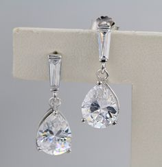 925 silver earrings, cubic zirconia stone, OEM ok, item number: BT04051