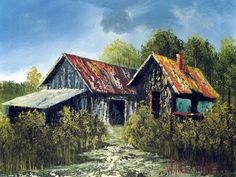 Wilson Bickford Intermediate/Advanced Oil Painting Lesson - Autumn Barn - YouTube