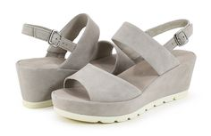 6ac4733a0e2 Gabor 65.740.13 Light Grey Puder Wedge Sandal - Holly   Brooks Wrap Heels