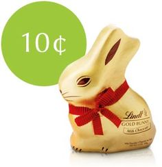 $.10 of every Lindt GOLD BUNNY sold supports  Autism Speaks