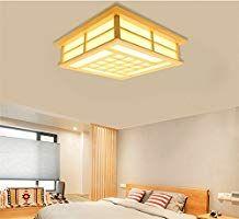 LYXG 18 W study bedroom light wooden ceiling LAMP LED lights Japanese tatami floor lamp (350MM*350MM*120MM), White Light: Amazon.co.uk: Lighting