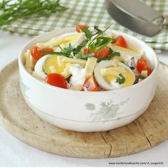 Schichtsalat Feta, Dairy, Cheese, Recipes With Eggs, Hams, Food Portions, Easy Meals