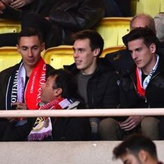 Louis Ducruet and brother Michael watch AS Monaco play Tottenham (317938)