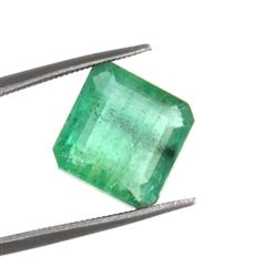 colombian emerald loose gemstone - untreated and certified