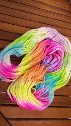 Yarn weight - chunky Yarn colour - Pastel Unicorn Weight - 100g Meters - 60m composition - 100% merino   please note that the colours may vary slightly from the photos. Colours may bleed a little on first was - hand wash only affiliate link
