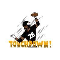 Steelers touchdown emoji