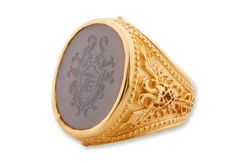Gold Custom Ring All Shapes And Sizes Also Gemset by Regnas, $2650.00