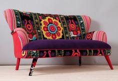 Suzani 2 seater sofa purple sun by namedesignstudio on Etsy