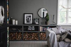 Closet Storage, Storage Shelves, Interior Inspiration, Entryway Tables, Bookcase, Sweet Home, Loft, Living Room, Interior Design